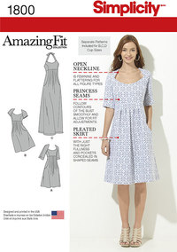 Misses´ and Plus Size Amazing Fit Dresses. Simplicity 1800.
