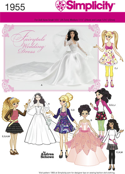 Doll Clothes for weddings, special occasions