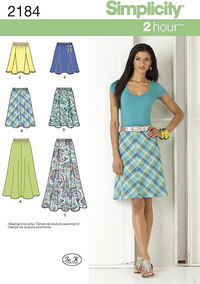 Misses Skirts. Simplicity 2184.