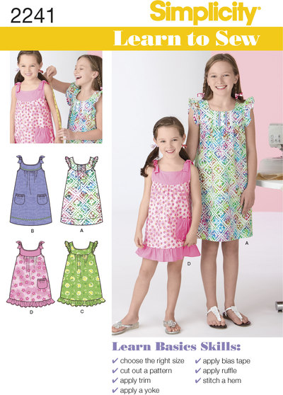 Learn to Sew Childs and Girls Dresses