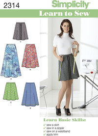 Misses´ Skirts. Simplicity 2314.