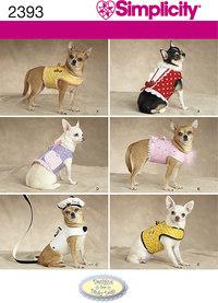 Dog Clothes. Simplicity 2393.