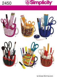 Craft, scissor and pencil organizer, sytilbehør. Simplicity 2450.