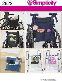 Hanging organizer for walker and wheel chair. Simplicity 2822.