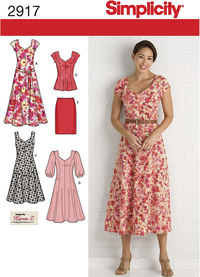 Dresses, Tunic, Skirt and Tie Belt. Simplicity 2917.
