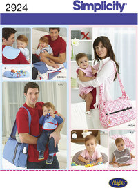 Diaper bags, baby accessories. Simplicity 2924.