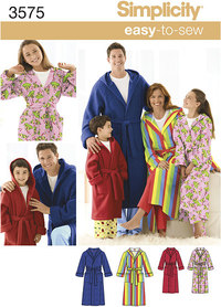 Miss/Men/Child Sleepwear. Simplicity 3575.