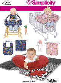 Pillow Cover, Quilt, Bunny, Seat Covers, Doll, Bib and Carrot. Simplicity 4225.