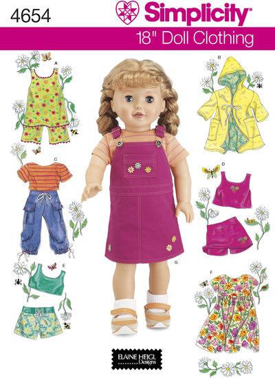 Doll Clothes, bibs, coats, shorts, dresses