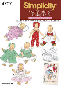 Baby doll clothes. Simplicity 4707.