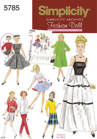 Doll Clothes, 1960ies, 11½ inch doll. Simplicity 5785.