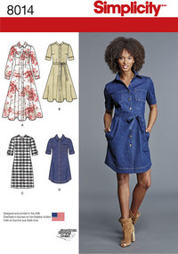 Misses´ Shirt Dress. Simplicity 8014.