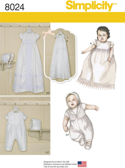 Babies´ Christening Sets with Bonnets