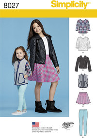 Child´s and Girls´ Sportswear Pattern. Simplicity 8027.