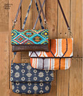 Clutch, Wristlet and Purse in Two Sizes