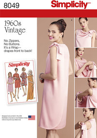 Misses´ Vintage 1960´s Three Armhole Dress. Simplicity 8049.