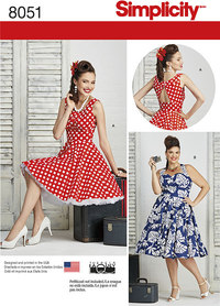 Misses and Plus Size Dresses. Simplicity 8051.