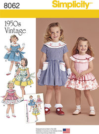 Vintage 1950´s Dress for Toddler and Child. Simplicity 8062.