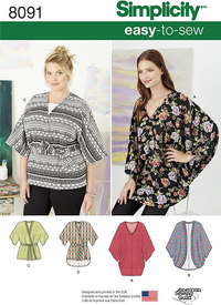 Misses Kimonos in Various Styles. Simplicity 8091.