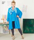 Plus size tunic, top, kimono and knit leggings
