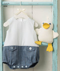 Babies´ Rompers, Sandals, and Stuffed Duck
