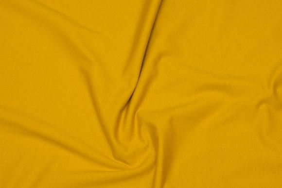 Brass-yellow cotton-jersey