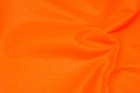 Clear orange hobby-felt in 180 cm width