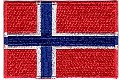 Norwegian, german or danish flag patch.