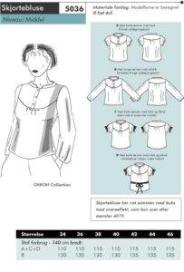 Onion 5036. Shirt blouse.