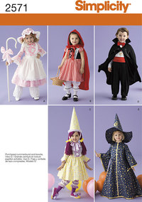 Toddler Costumes. Simplicity 2571.