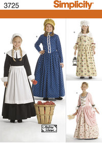 Child and Girl Costumes. Simplicity 3725.