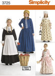 Simplicity 3725. Child and Girl Costumes.