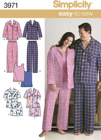 Unisex Pajamas and Knit Tank Top. Simplicity 3971.