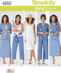 Simplicity 4552. Kimono-Jacket, Trousers, Skirt, Scarf or Sash.