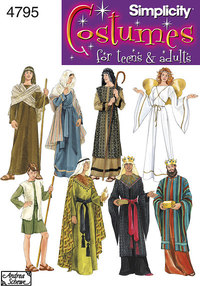 Men and teen nativity Costumes. Simplicity 4795.