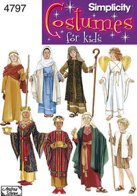 Boy and Girl Costumes. Simplicity 4797.