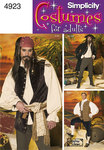 Simplicity 4923. Pirate costume - Pirates of the carribean.