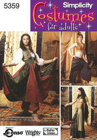 Belly Dancing Costumes. Simplicity 5359.
