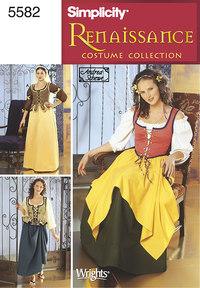 Renaissance Dresses. Simplicity 5582.