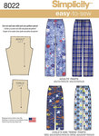 Simplicity 8022. Child´s, Teens´ and Adults Trousers.