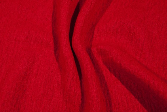 Red felt wool in good quality