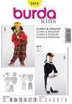 Burda 2414. Penguin, Clown for kids.