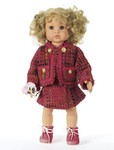 Chic outfits for dolls. From suit to ball gown with bolero and from pants/trousers to winter jacket – plus the matching headwear. The doll's mommy can mix and match as she pleases.