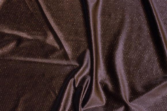 Dark brown stretch-velvet with glitter