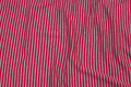 Narrow-striped wool-jersey in red and grey