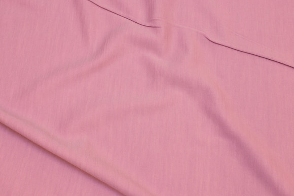 Lightweight jersey in wool and cotton in old rose