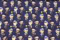 Fun, navy cotton-jersey with police and robbers