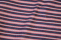 Striped cotton-twill in navy and red and white.