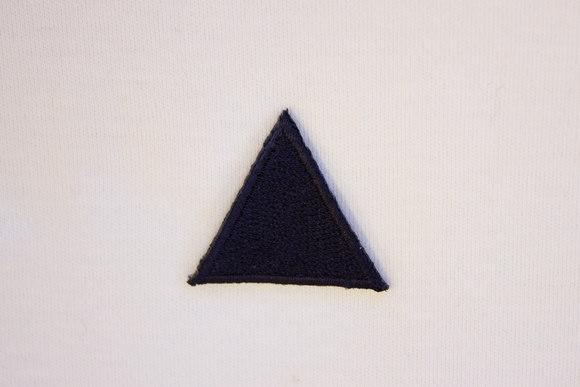 Navy triangle patch 3cm