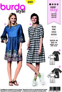 Burda pattern: Dress with waist, half length